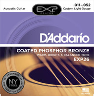 D'Addario EXP26 Coated Phosphor Bronze .011-.052 Cst Light