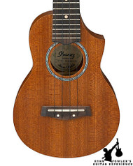 Ibanez UEWS5 Exotic Wood Soprano Acoustic Ukulele Open Pore Natural