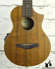 Ibanez UEWT14E Exotic Wood Tenor Acoustic Electric Ukulele Open Pore Natural