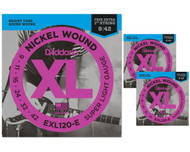 D'Addario EXL 3 Pack Super Light
