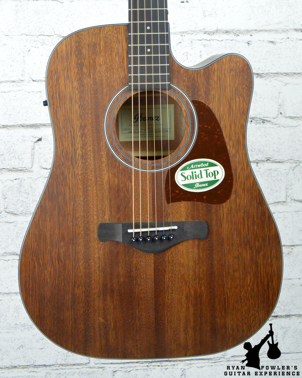 299b8836da Ibanez AW54CEOPN Artwood Dreadnought Acoustic-Electric Guitar Open Pore  Natural. Image 1