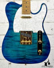 Suhr 01-CTD-0003 Limited Edition Classic T Deluxe Aqua Blue Burst