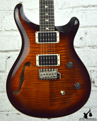 PRS CE24 Semi Hollow Custom Color Amber Smokeburst w/ Bag