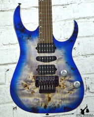 Ibanez Premium RG1070 Spalt Top Blue Burst w/ Case