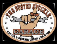 Metal - Tin Sign BUSTED KNUCKLE GARAGE Man Cave Garrage Sign