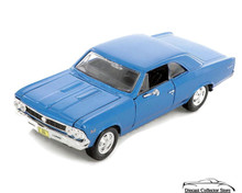 1966 Chevrolet Chevelle SS-396 MAISTO SPECIAL EDITION Diecast 1:24 Scale Blue