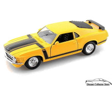 1970 Ford Mustang BOSS 302 MAISTO SPECIAL EDITION Diecast 1:24 Yellow 34943