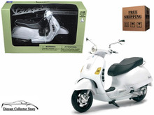 Vespa GTS 300 Super Scooter NEWRAY Diecast 1:12 Scale White FREE SHIPPING