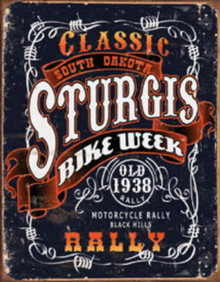 Metal - Tin Sign STURGIS CLASSIC RALLY Man Cave Garage Sign