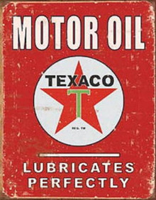 Metal - Tin Sign TEXACO MOTOR OIL Garage Man Cave Sign