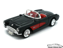 1957 Chevrolet Corvette SUNNYSIDE LTD / SUPERIOR Diecast 1:24 Scale Black/Red