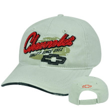HAT - Chevrolet Embroiderd  / Appliqued Adjustable Distresses Cap FREE SHIPPING