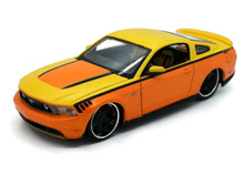 2010 Ford Mustang MAISTO CUSTOM SHOP Diecast 1:24 Scale Yellow/Orange