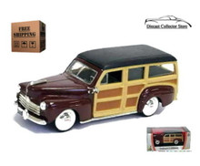 1948 Ford Woody ROAD SIGNATURE Diecast 1:43 Scale Burgundy FREE SHIPPING