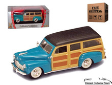 1948 Ford Woody ROAD SIGNATURE Diecast 1:43 Scale Turquoise FREE SHIPPING