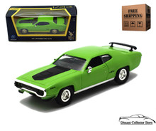 1971 Plymouth GTX ROAD SIGNATURE Diecast 1:43 Scale Lime Green FREE SHIPPING