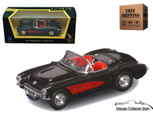 1957 Chevrolet Corvette ROAD SIGNATURE Diecast 1:43 Scale Black FREE SHIPPING