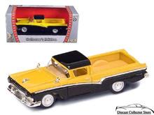1957 Ford Ranchero ROAD SIGNATURE Diecast 1:43 Yellow/Black FREE SHIPPING