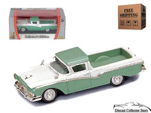 1957 Ford Ranchero ROAD SIGNATURE Diecast 1:43 Scale Green/White FREE SHIPPING