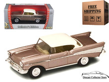 1957 Chevrolet Bel Air ROAD SIGNATURE Diecast 1:43 Scale Pearl FREE SHIPPING