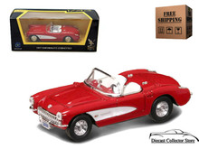 1957 Chevrolet Corvette ROAD SIGNATURE Diecast 1:43 Scale Red FREE SHIPPING