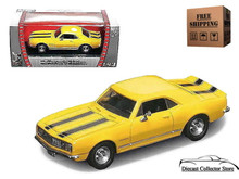 1967 Chevrolet Camaro Z-28 ROAD SIGNATURE Diecast 1:43 Scale Yellow FREE SHIPPING