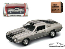 1968 Shelby GT500 KR Mustang ROAD SIGNATURE Diecast 1:43 Scale Silver FREE SHIPPING