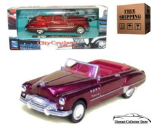 1949 Buick Roadmaster NEWRAY City Cruiser Diecast 1:43 Red FREE SHIPPING