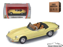 1971 Jaguar E-Type ROAD SIGNATURE Diecast 1:43 Scale Yellow FREE SHIPPING