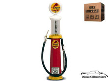 ROAR with GILMORE Vintage Cylinder Gas Pump ROAD SIGNATURE Diecast 1:18 FREE SHIPPING