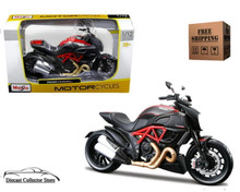 DUCATI Diavel Carbon Motorcycle MAISTO Diecast 1:12 Scale FREE SHIPPING