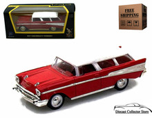 1957 Chevrolet Nomad ROAD SIGNATURE Diecast 1:43 Scale Red/White FREE SHIPPING