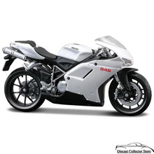 DUCATI 848 Motorcycle Maisto Diecast 1:18 Scale Silver & Black FREE SHIPPING