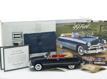 FRANKLIN MINT 1949 Ford Convertible Diecast 1:24 Scale Blue