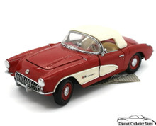 FRANKLIN MINT 1957 Chevrolet Corvette Diecast 1:24 Scale w/Free Display