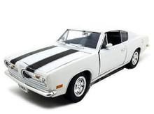 1969 Plymouth Barracuda ROAD SIGNATURE Diecast 1:18 Scale White w/Black Stripe