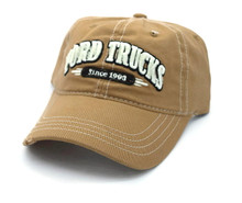 Hat - Ford Trucks Since 1903 Distressed Ball Cap Khaki