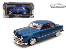 1949 Ford Coupe MOTORMAX AMERICAN CLASSICS Diecast 1:24 Scale Blue 73213-AC