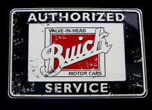 Metal - Tin 3-D Embossed Sign AUTHORIZED BUICK SERVICE Man Cave Garage Sign