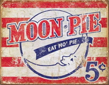 Metal - Tin Sign MOON PIE Eat Mo' Pie Garage Man Cave Bar Sign