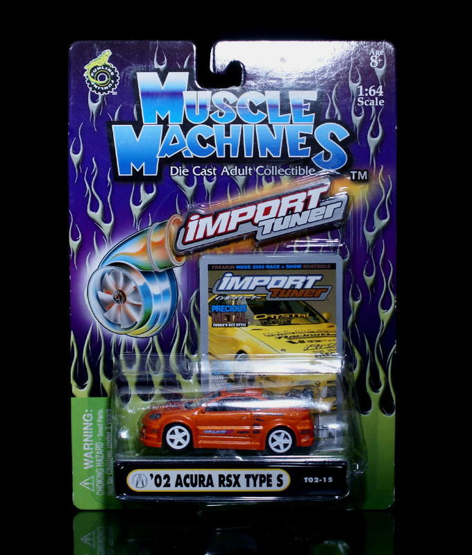 2002 Acura RSX Type S MUSCLE MACHINES Import Tuner Diecast