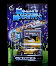 2001 Ford FR200 MUSCLE MACHINES Import Tuner Diecast 1:64 Scale Gold