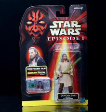 STAR WARS Action Figure QUI-GON JINN Comm Tech Chip Collection 1 Episode 1
