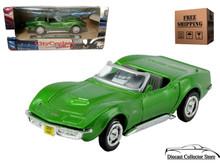 1969 Chevrolet Corvette NEWRAY City Cruiser Diecast 1:43 Green FREE SHIPPING