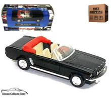 1964 1/2 Mustang Convertible NEWRAY City Cruiser Diecast 1:43 Black Free Shipping