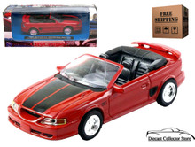 1994 Mustang GT Convertible NEWRAY City Cruiser Diecast 1:43 Red FREE SHIPPING