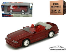 1989 Mustang GT Convertible NEWRAY City Cruiser Diecast 1:43 Red FREE SHIPPING