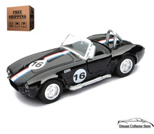 1966 Shelby Cobra 427 S/C NewRay City Cruiser Diecast 1:32 Scale Black