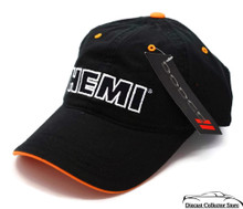 Hat - HEMI RAM Truck DODGE Ball Cap Black with Orange FREE SHIPPING