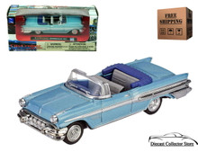 1957 Pontiac Bonneville Convertible NEWRAY Diecast 1:43 Scale Blue FREE SHIPPING